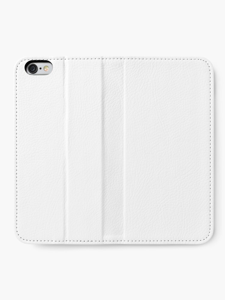Alternate view of White test iPhone Wallet