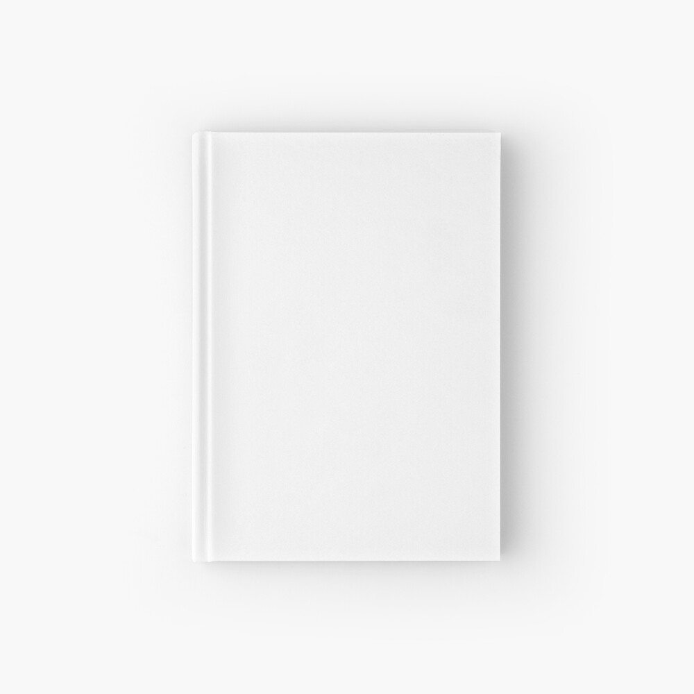 White test Hardcover Journal