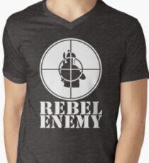 Rebel Enemy White Men's V-Neck T-Shirt