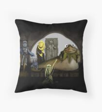 Kermit the Hutt Throw Pillow