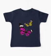 Cute unique Yellow and Pink Butterflies Kids Clothes