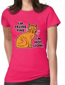 Funny Cat Pun Humor Womens Fitted T-Shirt