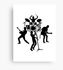 Band drummer guitarist singer Canvas Print
