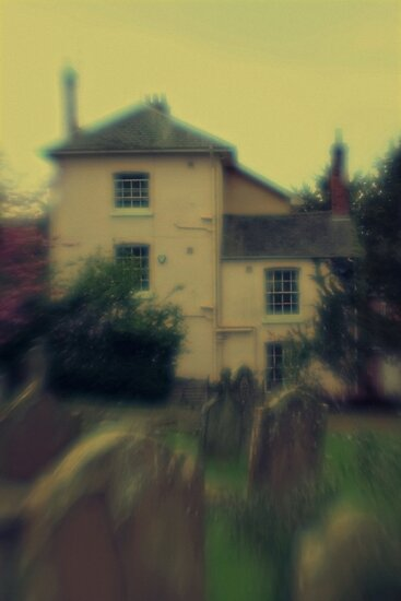pink house by the cemetery by Rebecca Tun