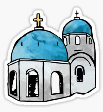 Santorini Greece Sticker Sticker