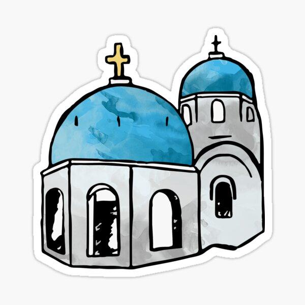 Santorini Greece Sticker Sticker