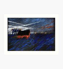 sky streams Art Print