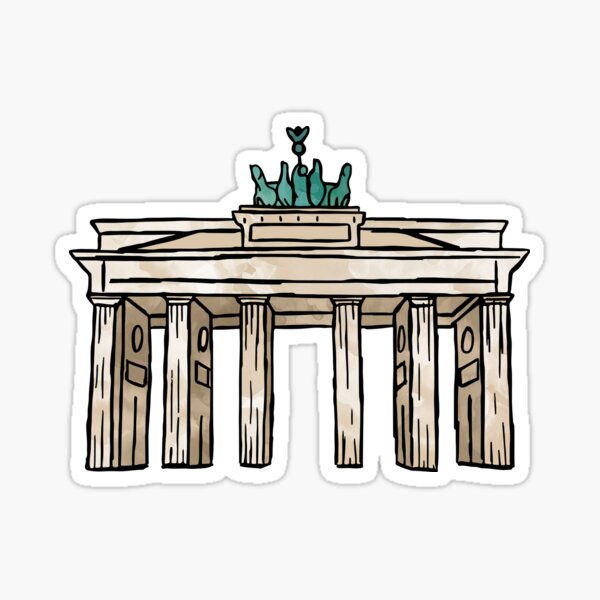 Berlin Brandenburg Gate Sticker
