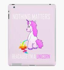 Unicorn Rainbow Comic Sarcastic Funny  iPad Case/Skin