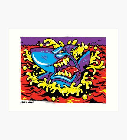 Shark Week Art Print