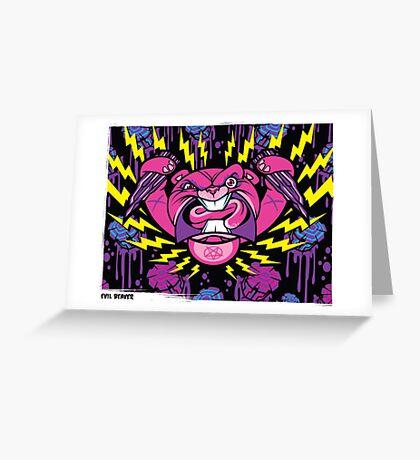 Evil Beaver Greeting Card