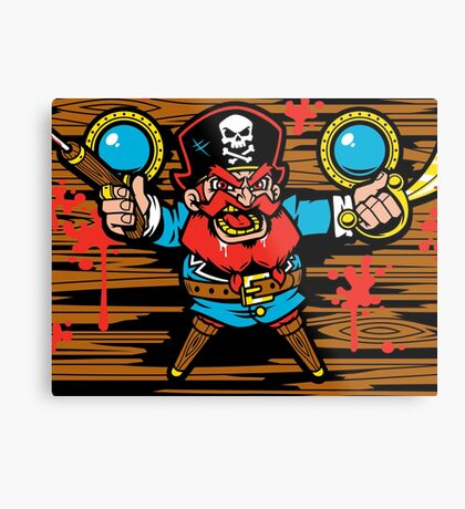 Captain Redbeard Metal Print