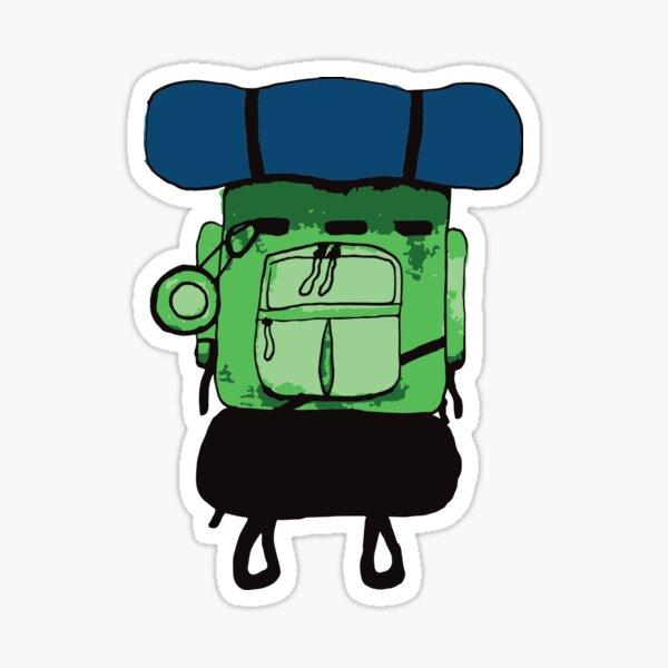 Backpacker bluegreen Sticker