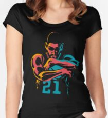 Tribute to Tim Duncan Women's Fitted Scoop T-Shirt