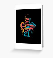 Tribute to Tim Duncan Greeting Card