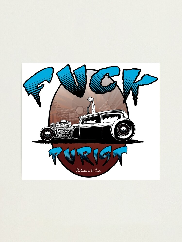 Alternate view of Fuck Purist Kustom Kulture Photographic Print