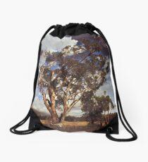 Australian Windswept Tree 01 Drawstring Bag