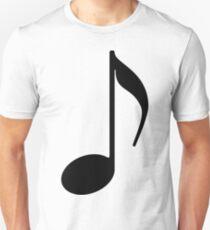 Note Symbol schwarz T-Shirt