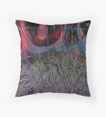 graffitiNgrass Throw Pillow