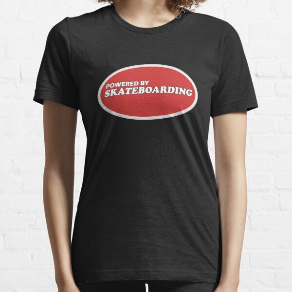Powered By Skateboarding Cool Skater T-Shirt For Skateboarders Essential T-Shirt