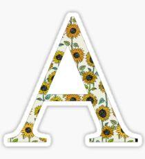 Alpha- Sunflower- Greek letter Sticker