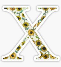 Chi- Sunflower Greek letter Sticker
