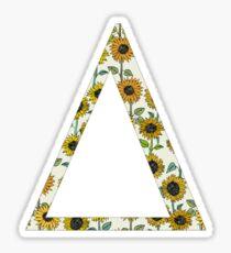 Delta- Sunflower Greek Letter Sticker