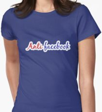 anti facebook Womens Fitted T-Shirt