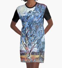 Australian Windswept Tree 02 Graphic T-Shirt Dress