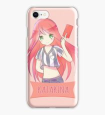 Red Card Katarina chibi iPhone Case/Skin