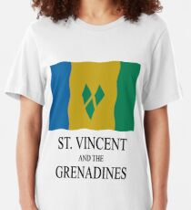St Vincent and the Grenadines flag Slim Fit T-Shirt