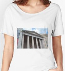 Classical temple with Corinthian columns in Assisi, Italy Women's Relaxed Fit T-Shirt