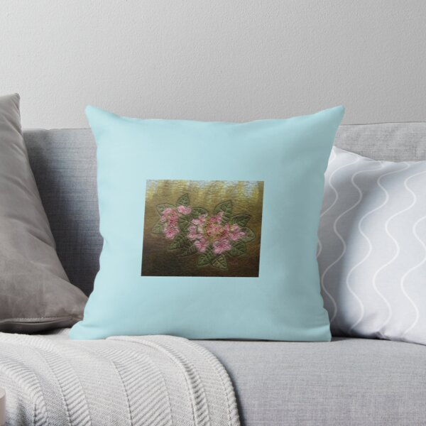Lacy Hydragea Throw Pillow