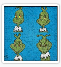 The Grinch Puzzle Sticker