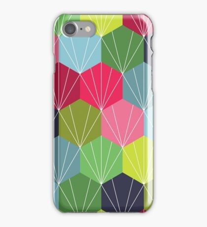 Geometric Hexie Honeycomb Colorful iPhone Case/Skin