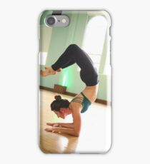 Female Yoga instructor in her studio Model release Available  iPhone Case/Skin