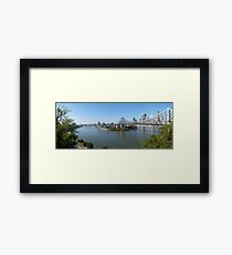 Brisbane panorama Framed Print