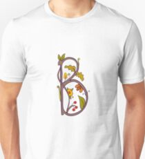 Natural alphabet  - letter B T-Shirt