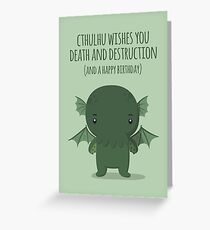 Cthulhu wishes you death - Card Greeting Card
