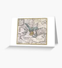 Map of Ancient Greece and the Eastern Mediterranean by Heirs Homann - 1741 Greeting Card