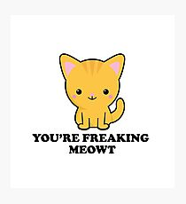 You're freaking meowt Photographic Print