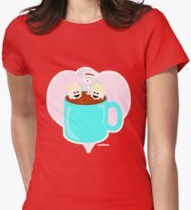 Hot Cocoa Love Womens Fitted T-Shirt