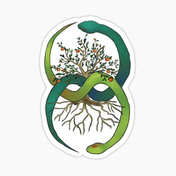 Ouroboros Tree of Life Sticker