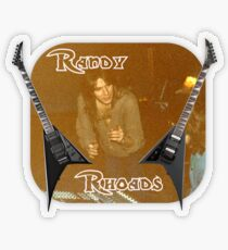 Randy Rhoades Transparent Sticker