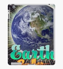 Earth By Air Vintage flight poster  iPad Case/Skin