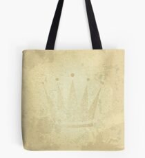 retro crown, grunge illustration Tote Bag