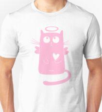 Pink Angel Cat Unisex T-Shirt