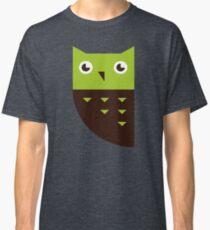 Green Brown Owl Classic T-Shirt