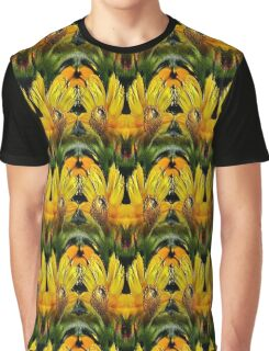 Abstract Yellow Daisy Flowers Design Graphic T-Shirt