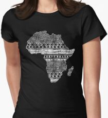 Patterned Map of Africa  Women's Fitted T-Shirt